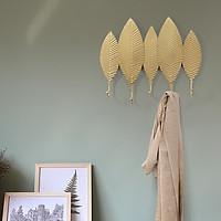 Móc treo đồ hình lá vàng 5 móc - Móc treo cao cấp