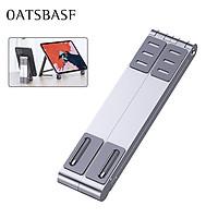 OATSBASF Foldable Laptop Stand Phone Holder Macbook Notebook Stand Desk Accessories Adjustable Size Ergonomic Design