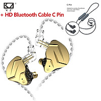 KZ ZSN Pro X In Ear Earphone Metal Detachable Headphones Outdoor Sport Noise Cancelling Headset HiFi Music Game Earbuds Additional HD CSR8675 Wireless Bluetooth Cable