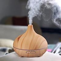 Máy tạo ẩm khuếch tán tinh dầu YM-C màu gỗ Sáng tặng kèm tinh dầu