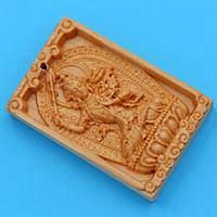 Mặt Phật gỗ ngọc am Văn Thù Bồ Tát MGPBM3 - Phật bản mệnh người tuổi Mão