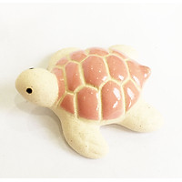 Rùa gốm tráng men - Tượng gốm Tiểu Quy hướng hải nhỏ nhắn, xinh xắn dùng trang trí, decor