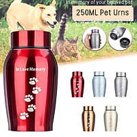 Memorials Paw Print Cremation Urn Stainless steel anti-perspiration waterproof durable for Cats and Dogs
