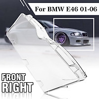 Right Clear Headlight Plastic Lens Lamp Cover Shell For BMW E46 3 Series 01-06