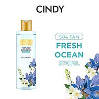 Sữa tắm nước hoa dưỡng ẩm sáng da Cindy Bloom Fresh Ocean mùi hương năng động trẻ trung 270g