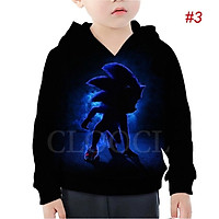 Áo Khoác Hoodie In Hình Sonic The Hedgehog Game Hoạt Hình 3d Giản Dị Dành Cho Trẻ Nhỏ