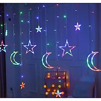 Dây Đèn LED Rèm Trăng Sao 3.5m - 220V Chống Thấm Nước Trang Trí Trong Nhà Ngoài Trời [Tặng thanh dũa móng tay ngẫu nhiên]