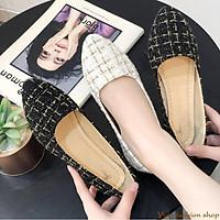 Giày bệt búp bê nữ vải dạ xinh xắn Hàng Quảng Châu cao cấp-CC12