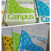 Giấy kiểm tra cấp 2 campus các loại