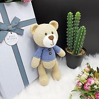 Gấu bông móc len Amigurumi cao cấp - Gấu Teddy 100% Cotton, quà tặng thú nhồi bông hình gấu Teddy