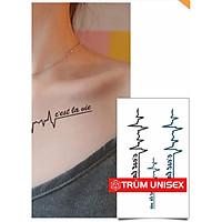 Tấm dán xăm tatoo Nam Nữ độc đáo Nhịp tim C'Est  lavie Meo 1 tấm gồm 3 hình TNSTATTOO01  PhillipStore