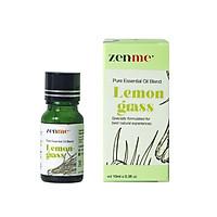 Tinh dầu tinh chất Zenme Sả Chanh 10ml giúp kháng khuẩn, kháng nấm cực mạnh, giảm nhức mỏi, thải độc..