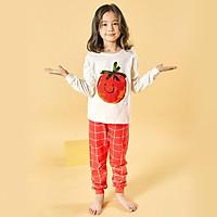 Bộ đồ dài tay mặc nhà cotton mịn cho bé gái U1009 - Unifriend Hàn Quốc, Cotton Organic