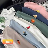 Áo phông, áo thun nam nữ form rộng tay lỡ Unisex LOGO TRÁI CÂY Từ 50-70kg