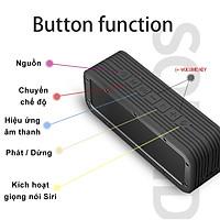 Loa Bluetooth ngoài trời không dây chống nước Bass 50W di động Hỗ trợ Aux TF USB Loa âm thanh nổi siêu trầm - Hàng Chính Hãng PKCB