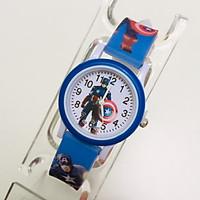 Đồng hồ trẻ em hình đội trưởng mỹ dây silicon dành cho bé trai bé gái