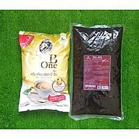 Combo Bộ Trà Sữa Huyền Thoại 1 Kg Bột Kem B-ONE Và 2 Kg Trân Châu 3Q Sea Jelly Caramel