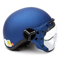 Mũ bảo hiểm nửa đầu có kính Sunda 180B trơn