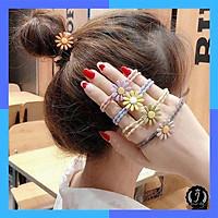 Dây buộc tóc hoa cúc hoạ mi Hàn Quốc hot trend