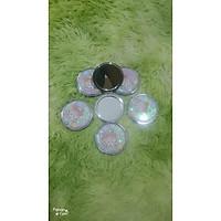 Gương Mini Tròn Gấp Gọn 2 Mặt Rắc Kim Tuyến ( màu ngẫu nhiên)