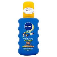 Kem dưỡng chống nắng cho trẻ em Nivea Moisturising Sun Cream for Kids SPF50 200ml