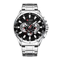 Curren Men Businiess Watch Exquisite Alloy Case Stainless Steel Wrist Band Watch Classic Fashion 3 ATM Waterproof Quartz