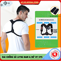 Đai Chống Gù và Định Hình Lưng cao cấp HT SYS Back Posture Corrector - HTBPC01/HTBPC02 - Giúp định hình lại dáng đứng, tư thế ngồi, hỗ trợ làm giảm tình trạng gù lưng, vẹo cột sống