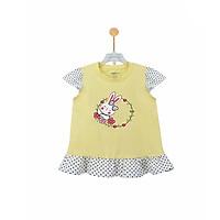 Áo thun bé gái hình thỏ dễ thương bèo gấu và bèo tay Ardilla K88GSS20