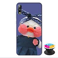 Ốp lưng cho  điện thoại Asus Zenfone Max Pro M2 hình Vịt Bông Lalafanfan Mẫu 1 tặng kèm giá đỡ điện thoại iCase xinh xắn - Hàng chính hãng