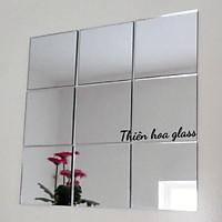 combo 20 tấm gương dán tường hình vuông decor phòng khách nhà cửa spa