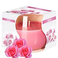 Ly nến thơm tinh dầu Bispol Rose 100g QT024782 - hương hoa hồng