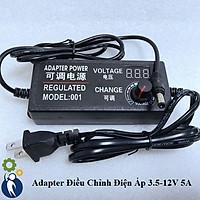 Adapter Điều Chỉnh Điện Áp 3.5-12V 5A Có Đồng Hồ Led