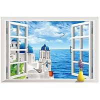 Decal cửa sổ 3D Phong cảnh Biển AmyShop ( 60 x 90 cm )