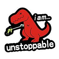 KHỦNG LONG ĐỎ UNSTOPPABLE - Sticker transfer hình dán trang trí Xe hơi Ô tô size 9.5x11cm