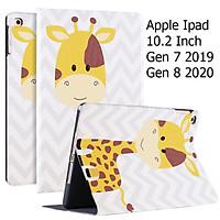 Bao Da Cover Dành Cho Apple Ipad 10.2 Inch 2019 Hỗ Trợ Smart cover Hoa Văn Dễ Thương