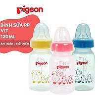 Bình sữa cổ hẹp PP tiêu chuẩn vịt Pigeon 120ml (2018)
