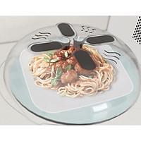 Nắp đậy thức ăn trong lò vi sóng 30x8.5cm+ Tặng kèm khăn lau san hô nhà bếp - Nắp đậy thông minh cho các loại lò vi sóng mang lại sự an toàn khi sử dụng