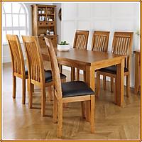 Bộ bàn ăn 6 ghế 1m6 hoàn toàn 100% gỗ sồi tự nhiên Juno Sofa
