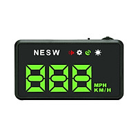 Universal HUD Head Up Display GPS Digital Speedometer with MPH for Cars Odometer Speed 3.5inch Large Screen, Works for