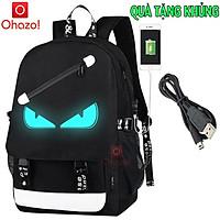 Balo nam nữ đi học phong cách phát sáng Ohazo! hình Mắt - TẶNG cáp sạc USB - Cặp đi học HOT trend 2021