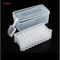 Bộ hộp 4 Khay Đá 144 Viên Kèm Xẻng Múc Đá Và Hộp Đựng Nhựa Đựng 4 Khay Gọn Gàng