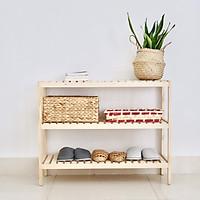 Kệ giày dép - kệ đa năng 3 tầng 80x26x63cm- màu gỗ tự nhiên Twin Home