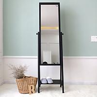 Gương Đứng Phối Kệ Gỗ Shefl Mirror Nội Thất Kiểu Hàn BEYOURs - Đen
