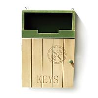 Tủ treo chìa khóa gỗ 2 tầng Retro
