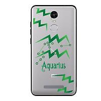 Ốp lưng cho điện thoại Xiaomi Redmi Note 3 viền TPU cho cung Bảo Bình - Aquarius