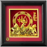 Quà Tặng Khung Tranh Sbj 3d Mạ Vàng Mã Đáo Thành Công Chữ Phúc