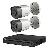 Trọn bộ 2 Camera giám sát Dahua HD CVI 1 Megapixel HAC-HFW1000RP-S3 - Hàng chính hãng