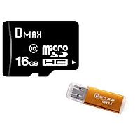 Thẻ Nhớ 16GB Dmax Micro SDHC Class 10 - Hàng Nhập Khẩu + Tặng đầu đọc thẻ 2.0 (mẫu ngẫu nhiên)