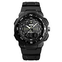 SKMEI 1454 Men Analog Digital Electronic Watch Fashion Casual Outdoor Sports Male Wristwatch 3 Time Display Alarm