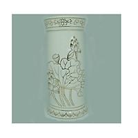 Bình bông Bạch Ngọc ống 8 inch PT0143